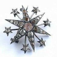 JYP-109 シルバー、サフィレット&ペースト 星形ブローチサムネイル